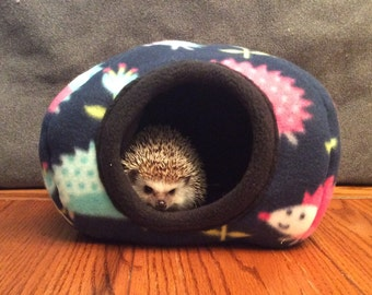 Hide, Pink and Blue Hedgehogs all over Pattern, for hedgehogs, guinea pigs, rats and other small animals