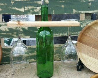 Wine bottle display center piece