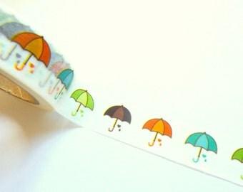 Colorfoul Umbrellas Washi Tape 15mmx 10m