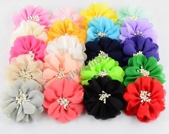 Chiffon Flower, Fabric Flowers,Wholesale Flowers, Hair Bow Supplies H100015