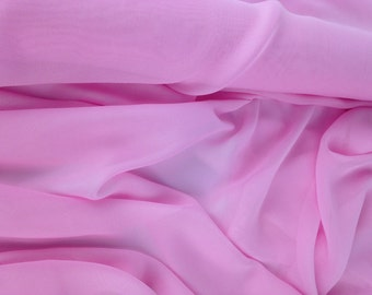 Pink Chiffon Fabric, Light Pink fabric, organza material, Bridesmaid wedding material, home decor, evening wear, QUARTER METRE