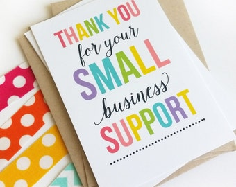 Thank You for Your Order - Small Business Thank You Cards