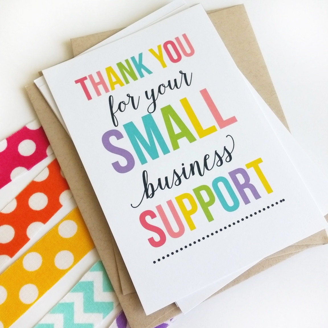 Thank You For Your Order Small Business Thank You Cards