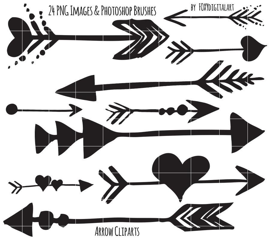 Tribal Arrow Clipart Hand Drawn Arrow Clipart Photoshop