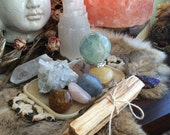 Altar kit/ Gemstone Altat Set / Healing Crystal Bundle / Gemstones & Minerals/ Sacred Space Kit