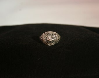 Silver Filigree Ring # 743