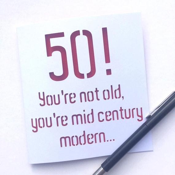 50 Card 50th Card Card For 50th Birthday 50th Birthday