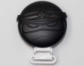 Ninja Pacifier Clip - Black - Silicone
