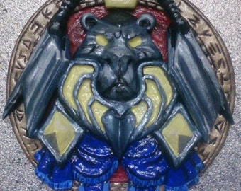 Warcraft Paladin icon logo Blizzard Lion magnet pendant present World of warcraft WOW