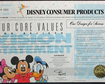 disneys mission values Walt disney's 4 core concepts: to dream, to believe, to dare and to do the disney company's 10 management principles: 1 make everyone's dreams come true 2 you better believe it 3 never a customer, always a guest 4 all for one and one for all 5 share the spotlight 6 dare to dare 7 practice, practice, practice 8 make your.