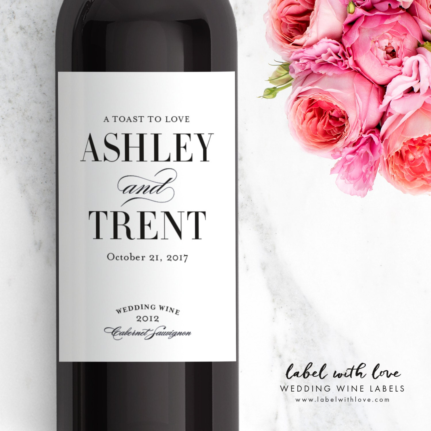Custom Wedding Wine Bottle Labels From Sets Of 4 Rehearsal