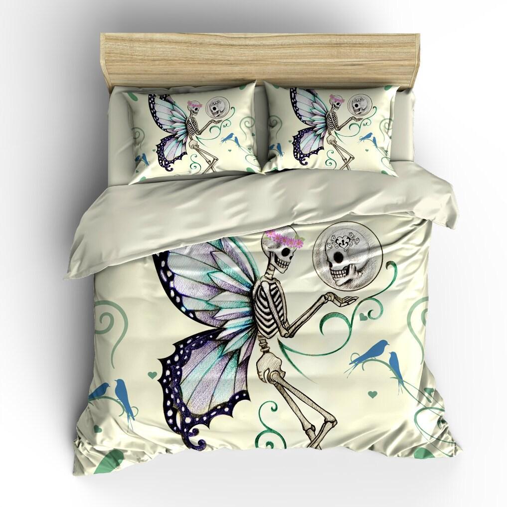 Sugar Skull Bedding Set Duvet COVER Pillow Shams