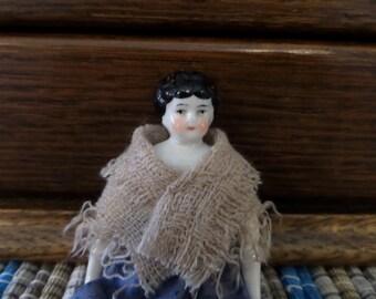"Antique China Head Doll 6"""