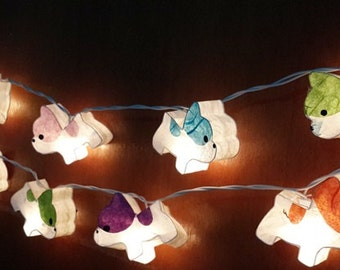 gift cute dog puppy bulldog mix color string lights 20 party patio fairy decor christmas wedding mulberry paper kid room bed room