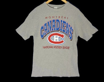 Vintage Montreal Canadiens Waffle Shirt - Medium - NHL Hockey - Quebec - French Canadian - Canadian - 90s Clothing - Vintage Sports Jersey -