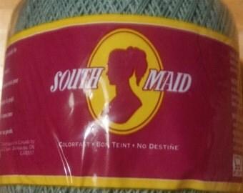 3 Lot SOUTH MAID Crochet Thread - 10 Size - 179 Spruce - 350 Yards - NIP