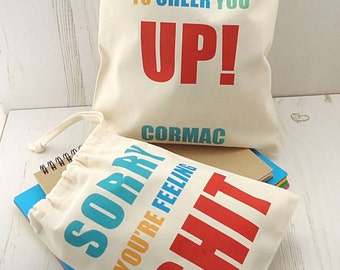 Get well soon bag - get well soon - gift bag - goody bag