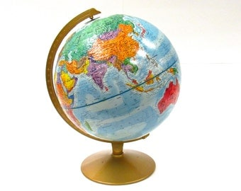 Vintage Reploge World Nation Series Globe -1980s