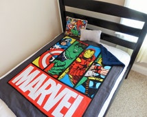 Avengers Superhero Blanket, Avengers Quilt, superhero minky fleece blanket, Marvel Baby/Toddler Blanket, Avengers  Playmat, Superhero Quilt