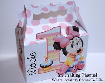 LG Baby Minnie Mouse 1st Birthday Treat Box Sets-Baby Minnie Mouse-Birthday Treat Boxes-Birthday