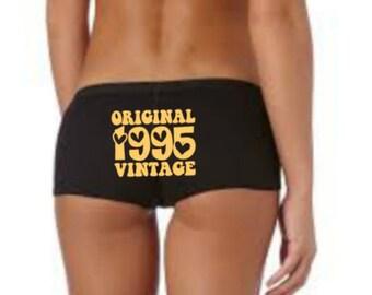 21st Birthday Underwear, 21st Birthday Gift, Gold Design, 21st Birthday Panties, 1995 Gift, 21st Lingerie Knickers, 21st Birthday Idea