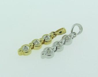 Diamond Pendant. Yellow or White Gold