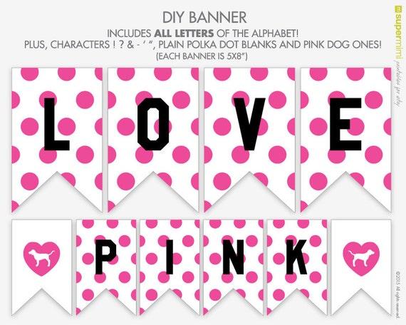 Pink Love Pink Polka Dots Victoria Secret by SupermimiDesign
