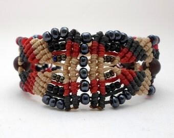 Macrame bracelet/micro macrame bracelet/boho micromacrame bracelet