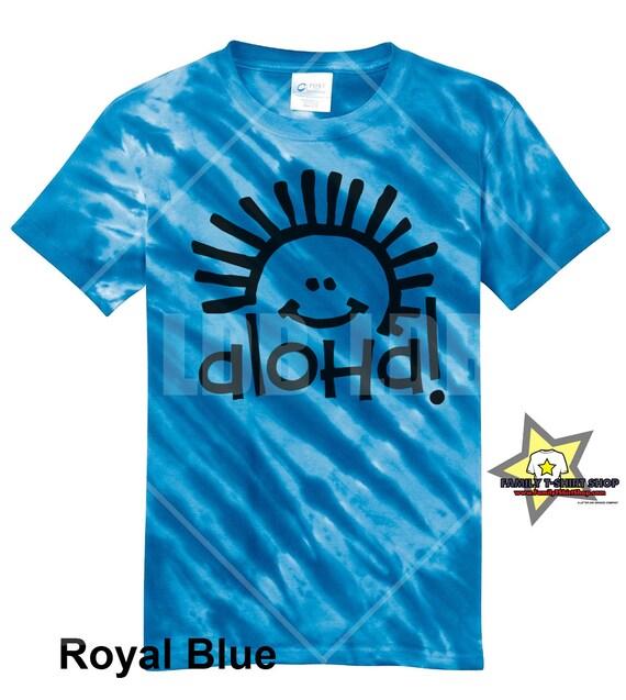 Aloha Sunshine Hawaiian T-Shirt - Tie Die T-Shirt