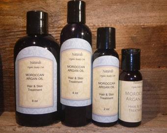 Organic Moroccan Argan Oil Hair Treatment Nourish Strengthen & Repair Your Hair