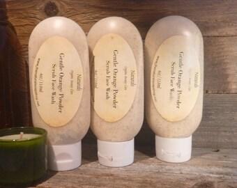 Gentle Orange Powder Scrub Face Wash Organic Face Scrub
