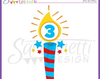 Birthday Clipart, Birthday Candle Clipart, Candle Clipart, Celebration Clipart, Party Clipart, Instant Download