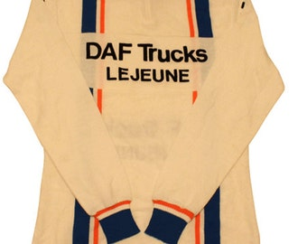 Deadstock 70's vintage DAF Lejeune cycle jersey made in France