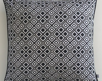 """Cushion Cover """"Black and White squares""""."""