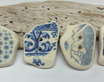 Medium sized, hand made,Scottish Sea Pottery Buttons  B 29.1.16.8