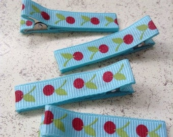 Hair Clips Barrettes Cherries
