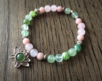 Heart Chakra Bracelet - Love Gemstone Healing Crystal Meditation Yoga Spiritual Prayer Reiki - ANAHATA