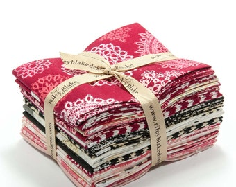 Valentines Fat Quarter Bundle - Lost and Found Love One Fat Quarter of Each Fabric by Riley Blake