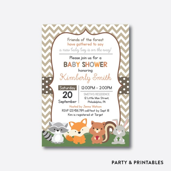 woodland baby shower invitation woodland invites forest animals