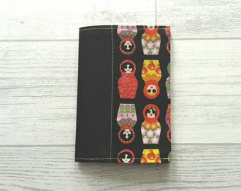 Russian Doll Passport Holder, Fabric Passport Cover, Matryoshka Passport Cover, Travel Accessories,  Gifts For Her, Teacher Gifts, Sale Item