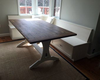 Inner Harbor Distressed Trestle Table!