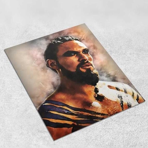 Khal Drogo Game Of Thrones Art Print Poster 8x10 Inch