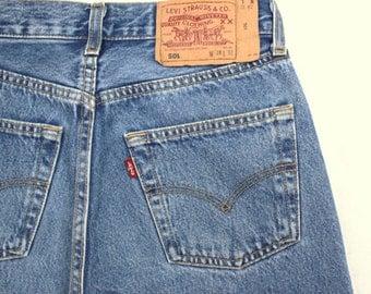 Levi's 501 Vintage High Waist Denim Jeans Medium Blue Wash Authentic Gift Womens Slim Fit Straight Leg 24 25 26 27 28 29 30 31 32 33 34 Mom