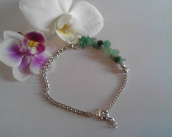 Aventurine Gemstone Silver Bracelet