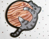 Clearance - Space Cat Vinyl Sticker Large Size Kitty on Jupiter Planet Cat cute Sticker Car Sticker Bumper Sticker Laptop Decal