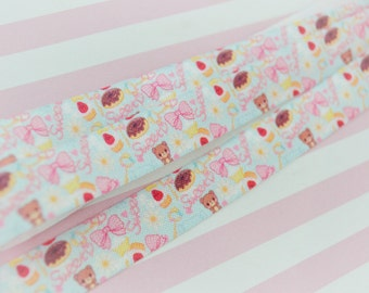 5 yds Kawaii Pastel Elastic Sweet Lolita Ribbon