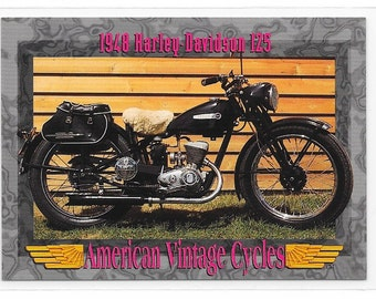 American Vintage Cycles 1948 Harley Davidson 125 Trading Card from 1993