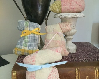 FREE SHIPPING - Four Quilt Bunnies