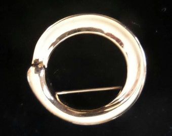 Goldtone Circular Pin Brooch by Monet©