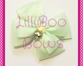 Handmade Tiana Princess and the Frog Inspired Hair Bow